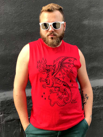 SALE // Cat Dragon - Classic Muscle Tank