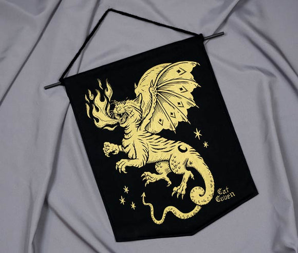 Cat Dragon - Handmade Banner