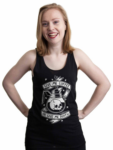 SUPER SALE // Coffee or Death - Unisex Tank Top