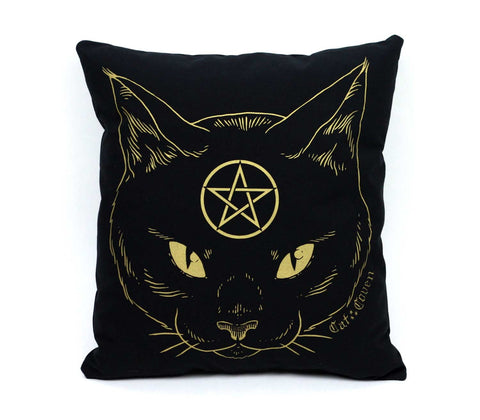 Cat Coven Pillow - Gold