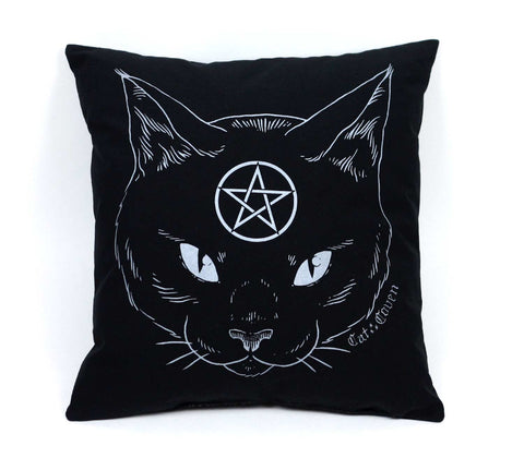 Cat Coven Pillow - Silver