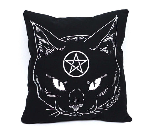 Cat Coven Pillow - White