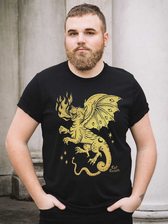 Cat Dragon - Crew Neck T-shirt