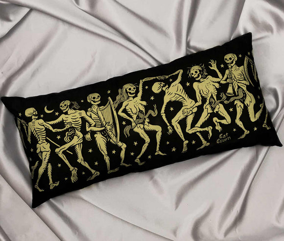 Danse Macabre Pillow - Gold