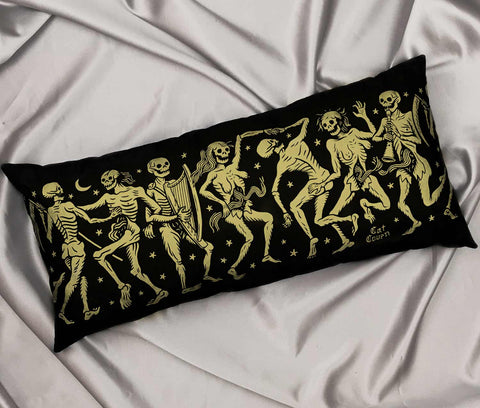 ✷MADE TO ORDER✷ Danse Macabre Pillow - Gold