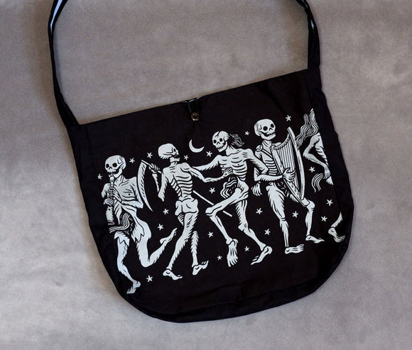 Danse Macabre (Silver) - Small Adventure Bag