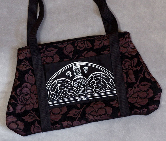 Death's Head - Slouchy Tapestry Bag