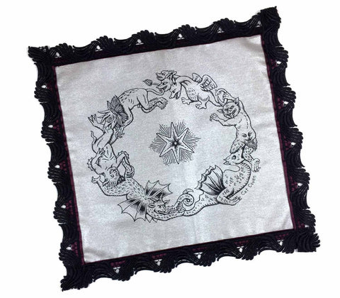 Demon Ring - Altar/Tarot Cloth I