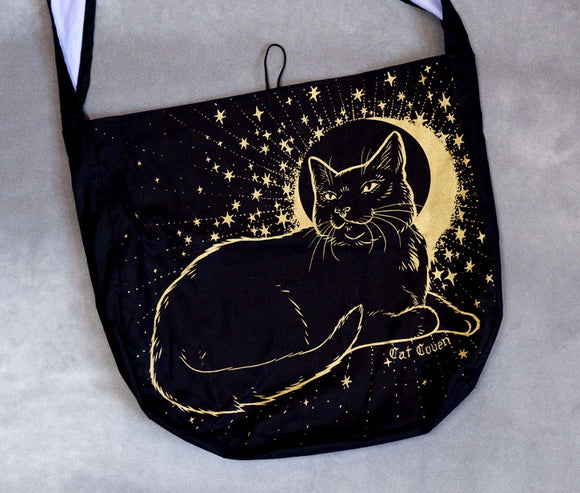 Dream Cat (Gold I) - Messenger Bag
