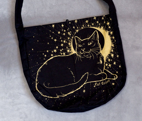 Dream Cat (Gold II) - Messenger Bag