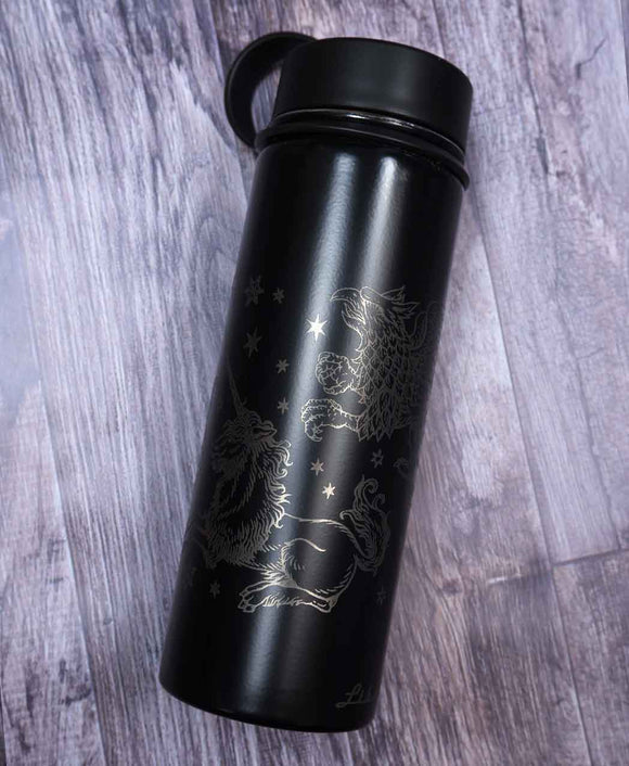 ✷FLAWED✷ Fantasy Creatures (Silver) - Reusable Bottle