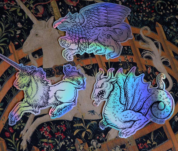 Fantasy Creatures - Holographic Sticker Set (3)