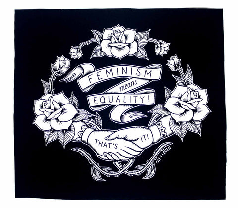 Feminism Means Equality - Back Patch