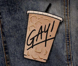 GAY! Iced Coffee - Embroidered Patch