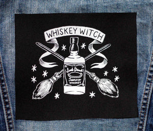 Whiskey Witch - Small Patch - Black