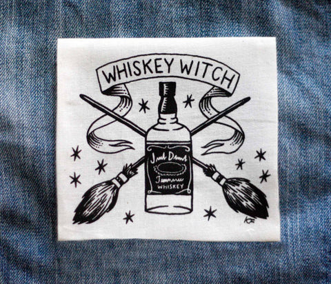 Whiskey Witch - Small Patch - White
