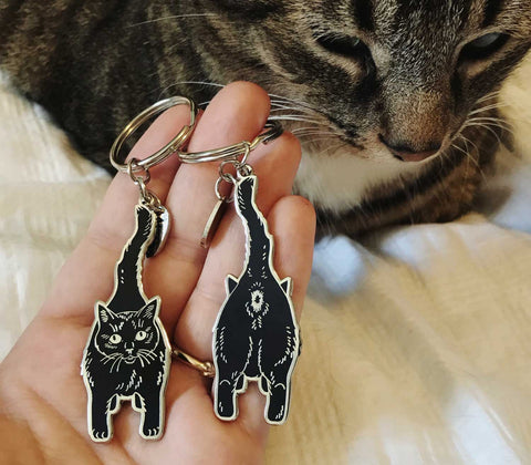 Cat Butt Keychain - Double-sided!