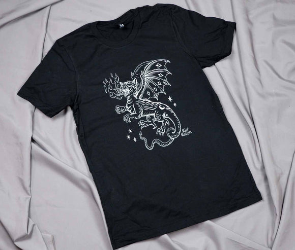 LIMITED 05 - Inverted Cat Dragon T-shirt - Medium