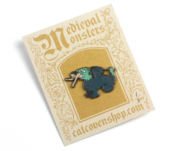 SALE // Medieval Monsters: Man-Eater Pin