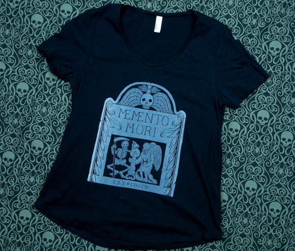 MISPRINT 33 - Memento Mori - Scoop Neck Tee LARGE