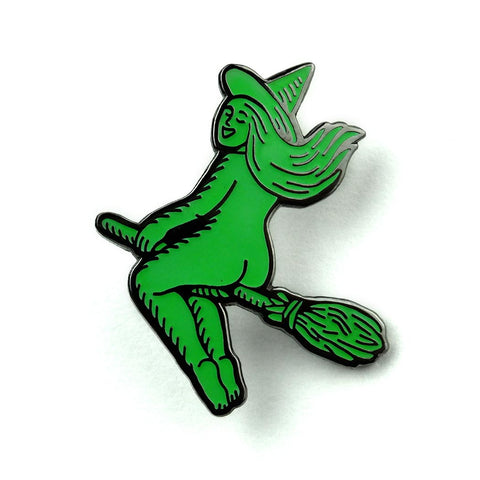 Butt Witch *Glow-in-the-Dark!* Pin