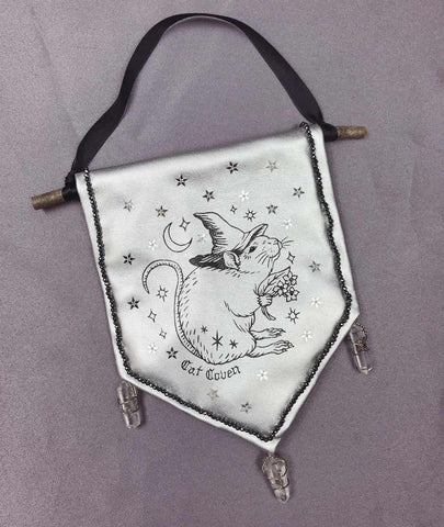 Magickal Rat Witch - Handmade Banner