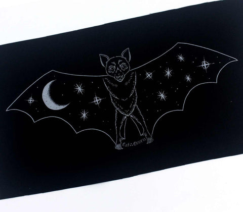 *SALE* Creature of the Night - Silver Back Patch / Banner