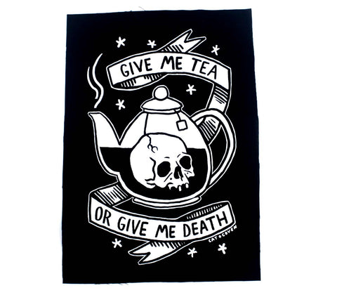 Tea or Death - Back Patch