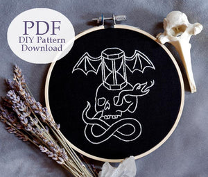 Tempus Fugit - Embroidery Pattern PDF DOWNLOAD