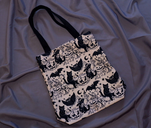 Tote Bag - Halloween Jamboree (Monochrome)