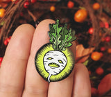 SALE // Turnip Jack O' Lantern *Glow-in-the-Dark!* Pin