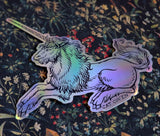 Unicorn - Holographic Sticker (1)