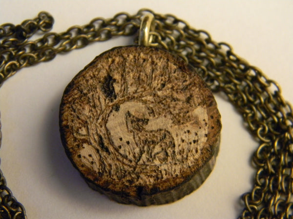 Aesop - The Fox and the Crow (double-sided necklace)