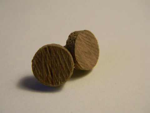 Raw Walnut Stud Earrings - Large