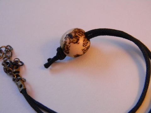 Wood World Bead Choker