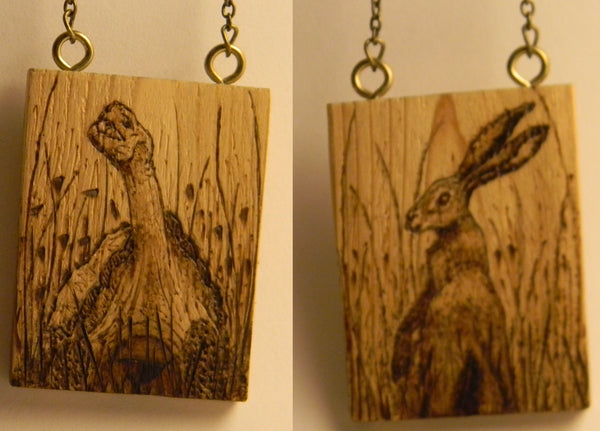 The Tortoise and the Hare (double-sided necklace)