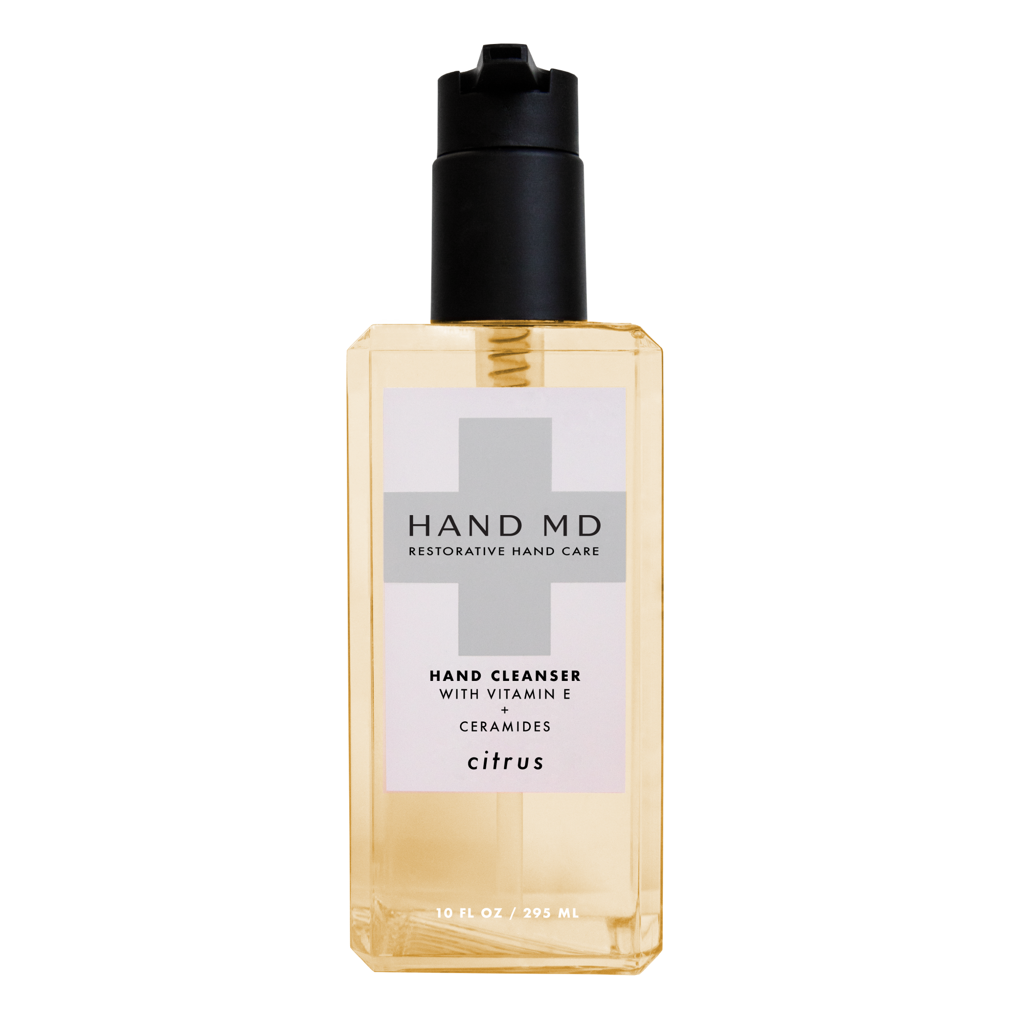Hand Cleanser - Citrus, A hand soap packed with age-defying, hydrating ingredients such as Vitamin E, Eucalyptus Leaf, Ginger Root, Ceramides and essential oils.