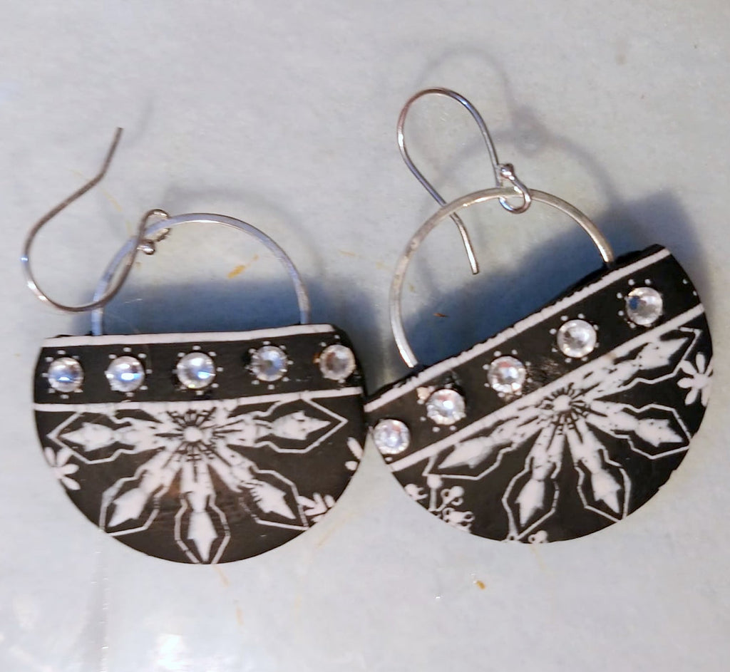 Learn to Make Snowflake Sparkle Polymer Clay Earrings with Liz Stefano
