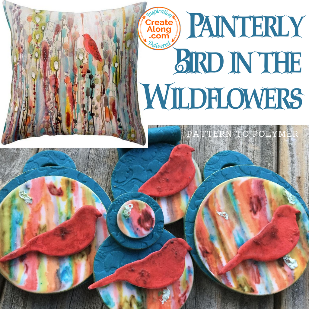 How to Create Painterly Wildflowers with Alcohol Ink on Polymer Clay