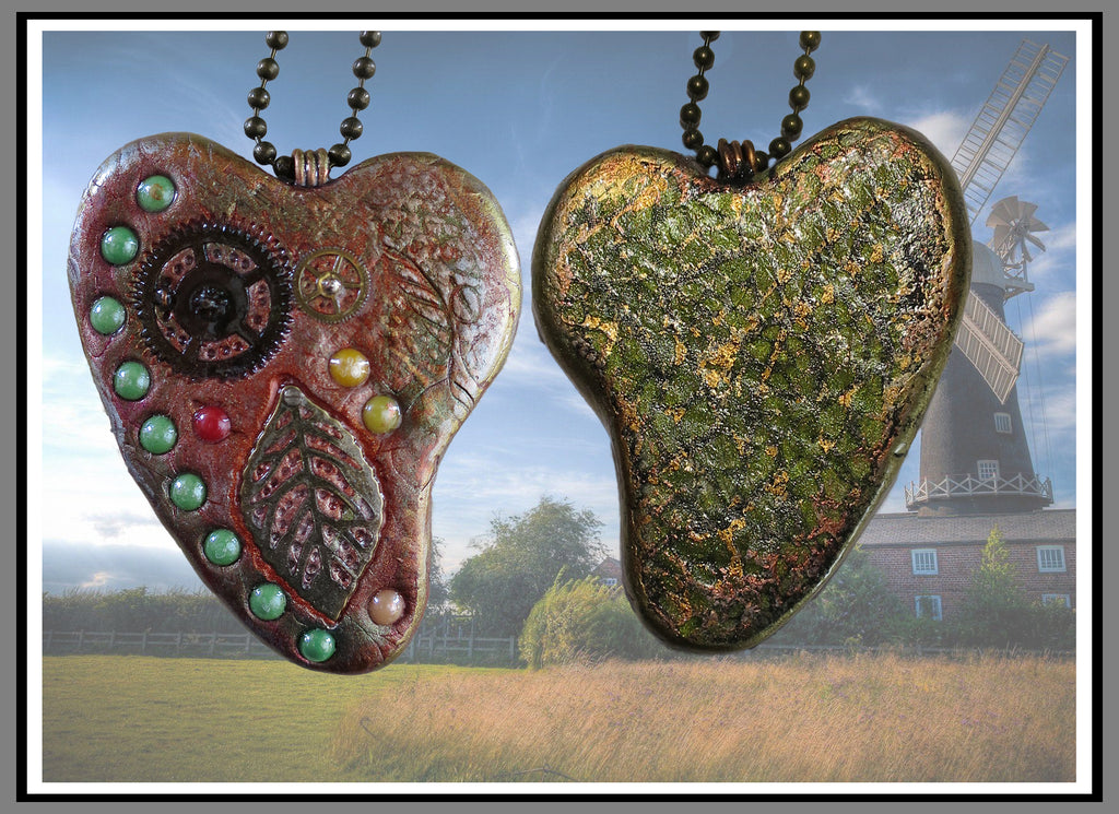 Autumn Steampunk Heart Pendant - Create Along Box Project