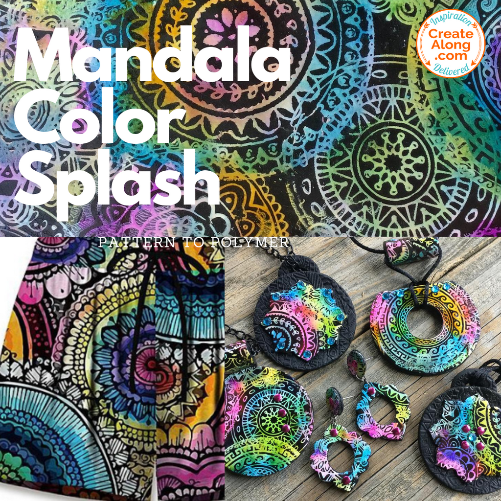 Go Boho! Make Color Splash Mandala Polymer Clay Jewelry