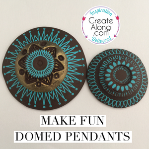 Polymer Clay Domed Pendants Easy & Fun to Make