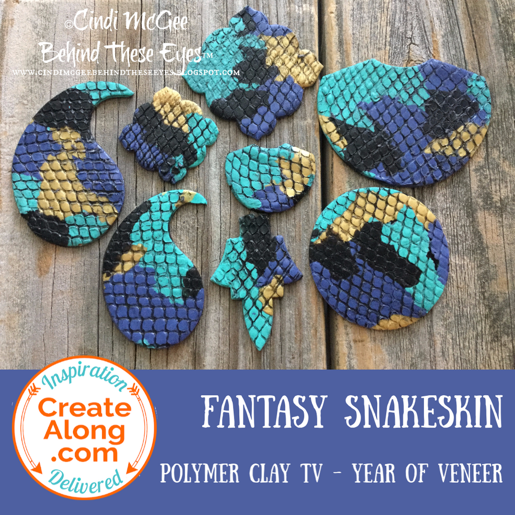 How to Create a Polymer Clay Fantasy Snakeskin Veneer for Jewelry and More