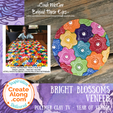 How to use polymer clay to create a bright blossoms floral veneer