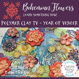How to Create a Bohemian Flower Polymer Clay Veneer - Polymer Clay TV Year of Veneer