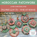 How to Create a Moroccan Patchwork Polymer Clay Veneer - Year of Veneer