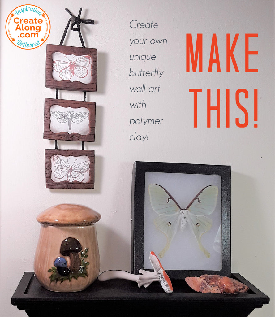 Butterflies! It's Easy to Make this Awesome Polymer Clay Wall Hanging