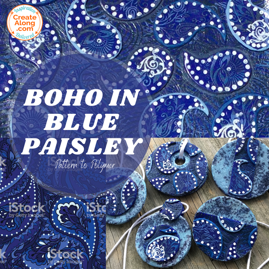 You Can Make  Boho Style Blue Paisley Jewelry!