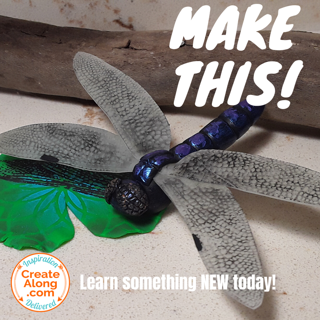 Sculpt a Polymer Clay Dragonfly!
