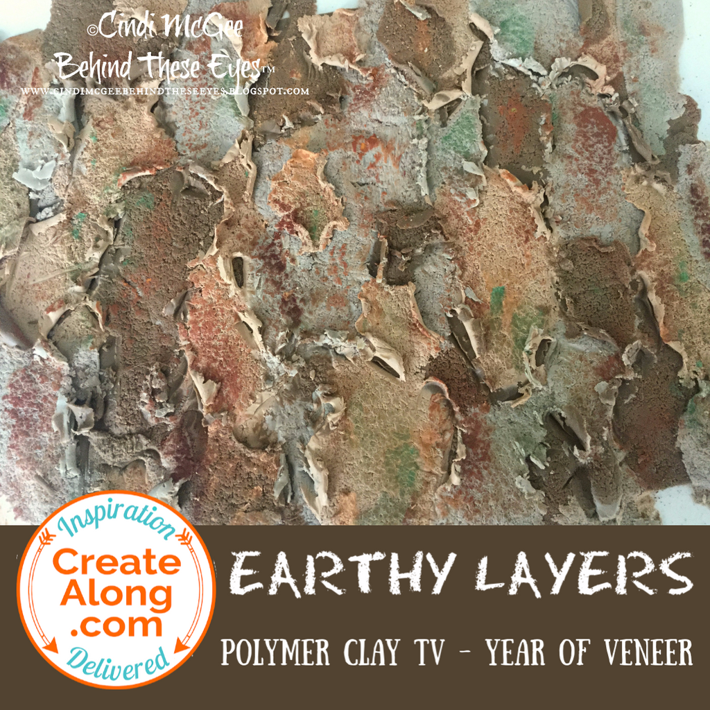 How to Make a Polymer Clay Earthy, Organic Layered Veneer
